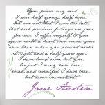 Jane Austen's Persuasion Quote #1 Poster