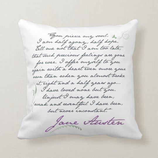 Jane Austen's Persuasion Quote #1 Square Pillow