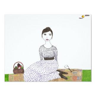 Jane Austen's Picnic 4.25x5.5 Paper Invitation Card