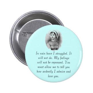 Jane Austen's Pride Buttons