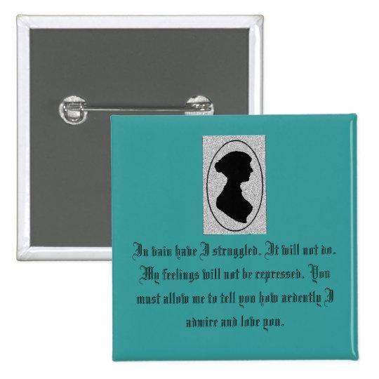 Jane Austen's Pride Pinback Button