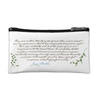 Jane Austen's Pride & Prejudice Quote #1 Cosmetics Bags