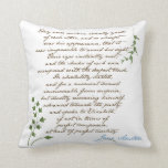 Jane Austen's Pride & Prejudice Quote #1 Pillows