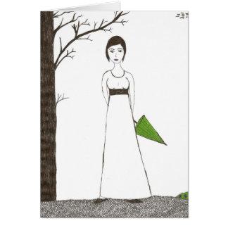 Jane Austen's rice Portrait Card