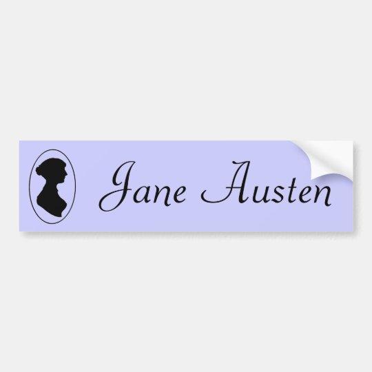 Jane Austen's Silhouette Bumper Sticker