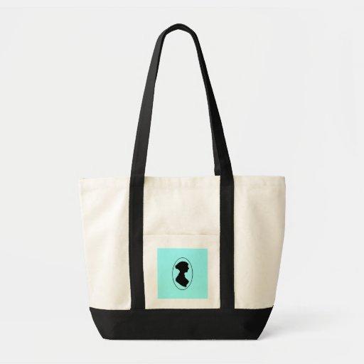 Jane Austen's Silhouette Impulse Tote Bag