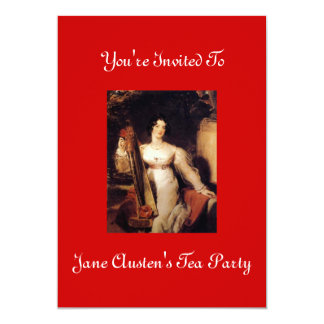 Jane Austen's Tea Party Invitation 2