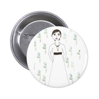 Jane Austen's  wallpaper Buttons