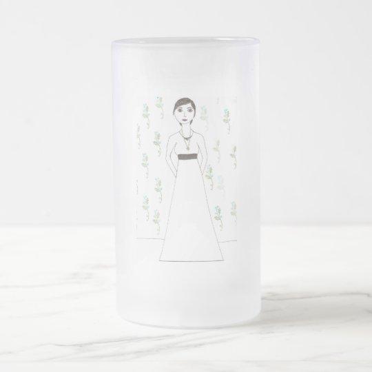 Jane Austen's  wallpaper Frosted Glass Beer Mug