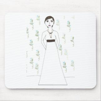 Jane Austen's  wallpaper Mouse Pad