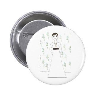 Jane Austen's  wallpaper Pinback Button