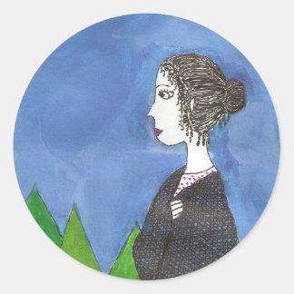 Jane Austen's Window Classic Round Sticker