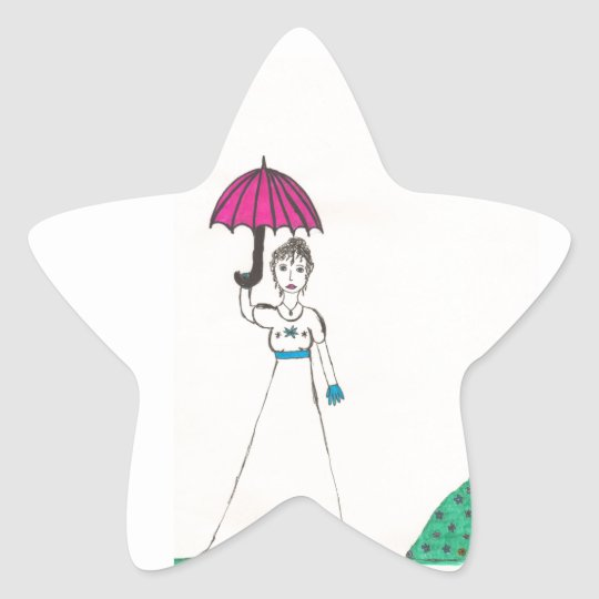 Jane austen's world star sticker