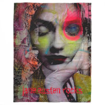 JANE AUSTIN ROCKS fleece throw