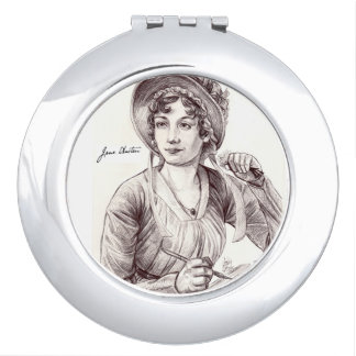 Jane Austin with a Smile Mirror For Makeup