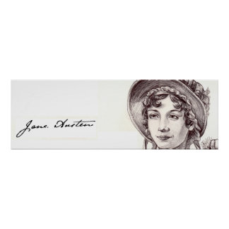 Jane Austin with a Smile Poster