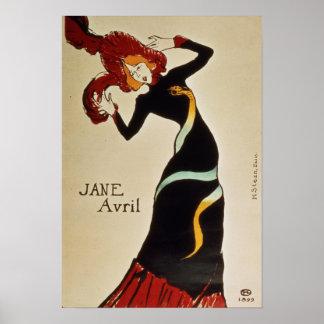 Jane Avril 1899 Poster