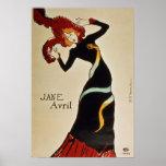 Jane Avril 1899 Póster