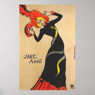 Jane Avril 1 Poster