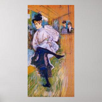 Jane Avril baila por Toulouse-Lautrec Posters