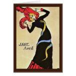 Jane Avril,  By Toulouse-Lautrec Henri De Greeting Card