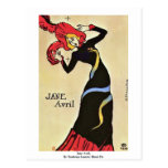 Jane Avril,  By Toulouse-Lautrec Henri De Postcard