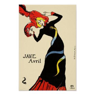 Jane Avril by Toulouse Lautrec Poster