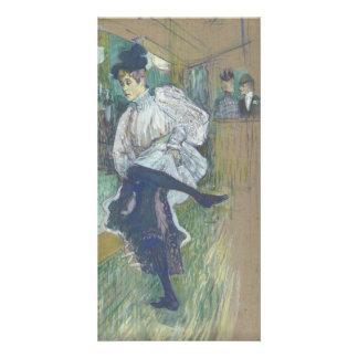 Jane Avril Dancing by Henri de Toulouse-Lautrec Customized Photo Card