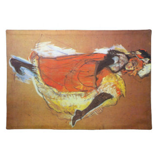 Jane Avril Dancing by Toulouse-Lautrec Cloth Placemat