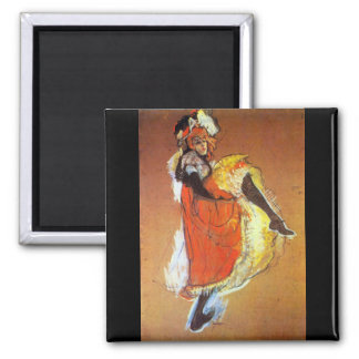 Jane Avril Dancing by Toulouse-Lautrec Magnet