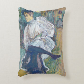 Jane Avril  Dancing, c.1892 Accent Pillow