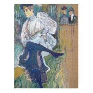 Jane Avril  Dancing, c.1892 Postcard