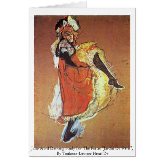 Jane Avril Dancing Study For The Poster Greeting Card