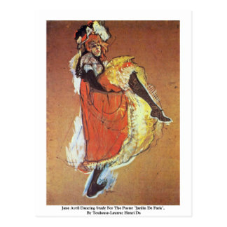 Jane Avril Dancing Study For The Poster Postcard