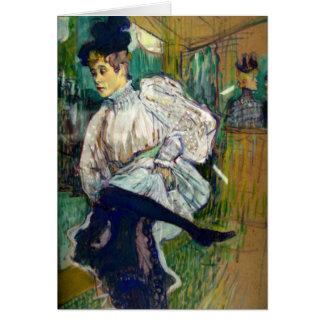 Jane Avril Danzante: Toulouse-Lautrec Card