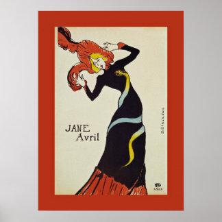 Jane Avril ~ Henri de Toulouse Lautrec 1899 Poster