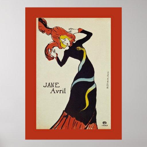 Jane Avril ~ Henri de Toulouse Lautrec 1899 Poster | Zazzle