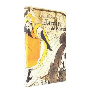 Jane Avril ~ Jardin de Paris ~ Toulouse-Lautrec Canvas Prints