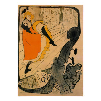 Jane Avril por Toulouse-Lautrec Impresiones