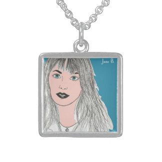 Jane B. Art Sterling Silver Necklace