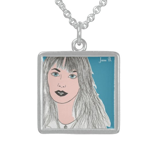 Jane B. Art Sterling Silver Necklace