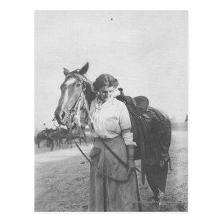 Jane Bernoudi y su caballo Tarjetas Postales