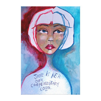 Jane Complimentary Color Canvas Print