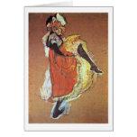 Jane Dancing Study By Henri De Toulouse-Lautrec Greeting Card