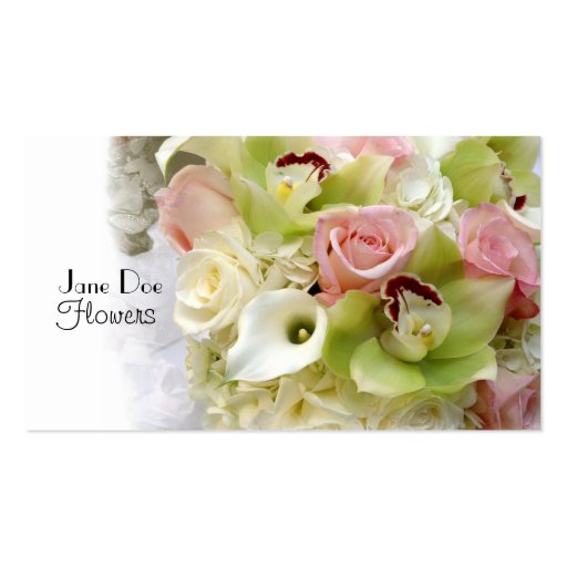 Jane Doe Flowers Double-Sided Standard Business Cards (Pack Of 100)