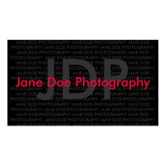 JANE DOE PHOTOGRAPHY BUSINESS CARD