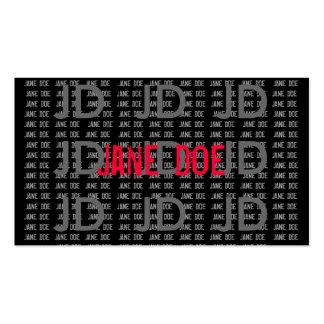 JANE DOE PHOTOGRAPHY BUSINESS CARD TEMPLATES