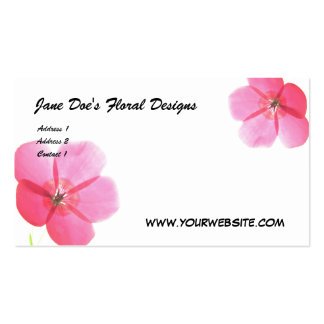 Jane Doe's Floral Designs, ... Business Card Template