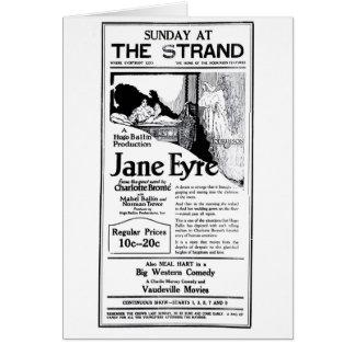 'Jane Eyre' 1922 vintage movie ad card