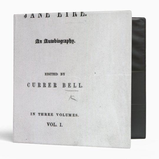 Jane Eyre' 3 Ring Binder